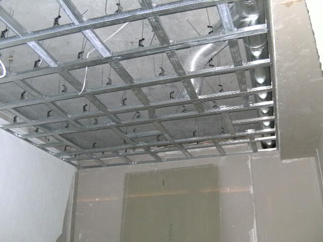 Подвесной потолок гипрок своими руками
